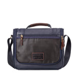 TRP0461 Troop London Heritage Canvas Small Messenger Bag, Smart Travel Bag Tablet Friendly
