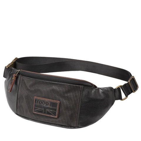 TRP0462 Troop London Heritage Coated Canvas Casual Waist Bag