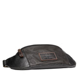 TRP0462 Troop London Heritage Coated Canvas Casual Waist Bag - Troop London