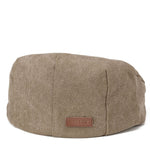 TRP0503 Troop London Accessories Canvas Old School Style Hat, Flat Cap, Shelby Newsboy Cap