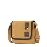 TRP0530 Troop London Heritage Washed Canvas Across Body Bag, Small Crossbody Bag - Troop London