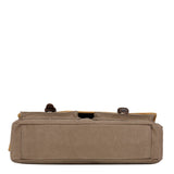 TRP0532 Troop London Heritage Washed Canvas Messenger Bag, Laptop Satchel - Troop London