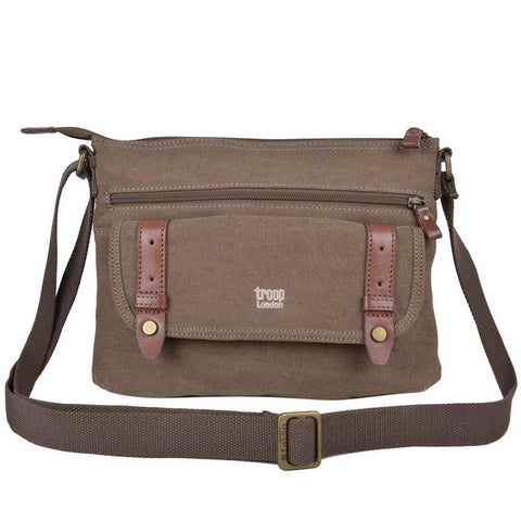 TRP0369 Troop London Classic Canvas Across Body Bag - Troop London