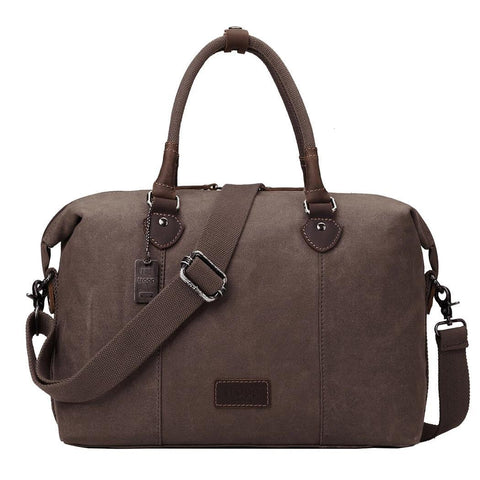 TRP0438 Troop London Heritage Canvas Travel Duffel Bag, Canvas Holdall, Gym Bag