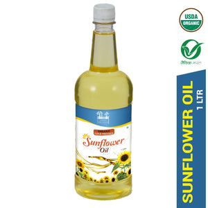 Simply Organics Organic Virgin Cold Pressed Kachi Ghani Sunflower Oil (1 Liter) - Simply Organics