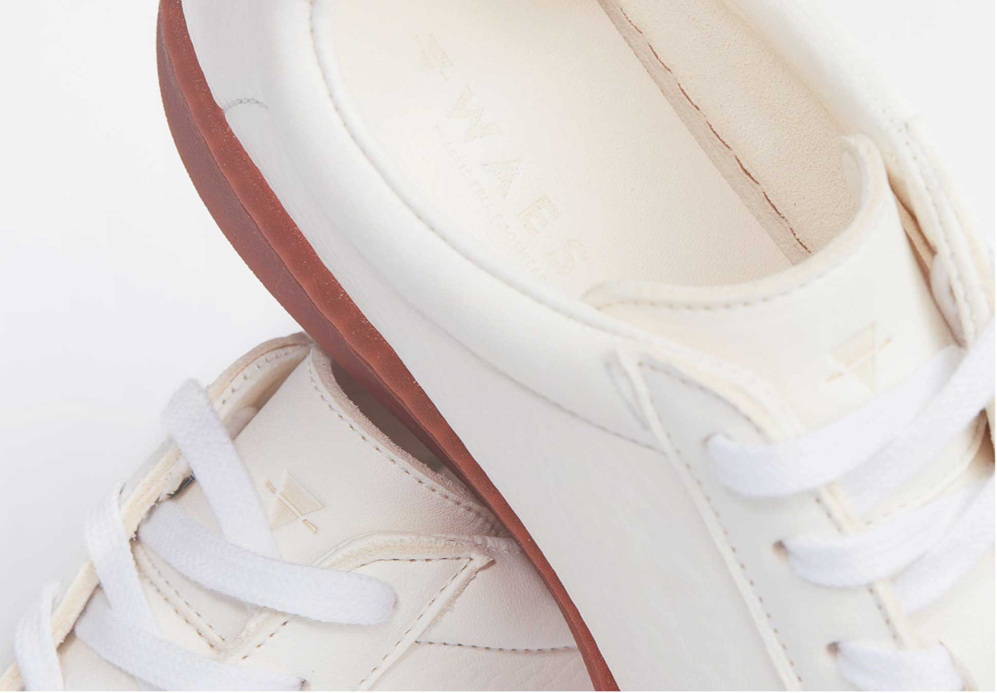 Plastic-Free Leather Trainers | WAES-store