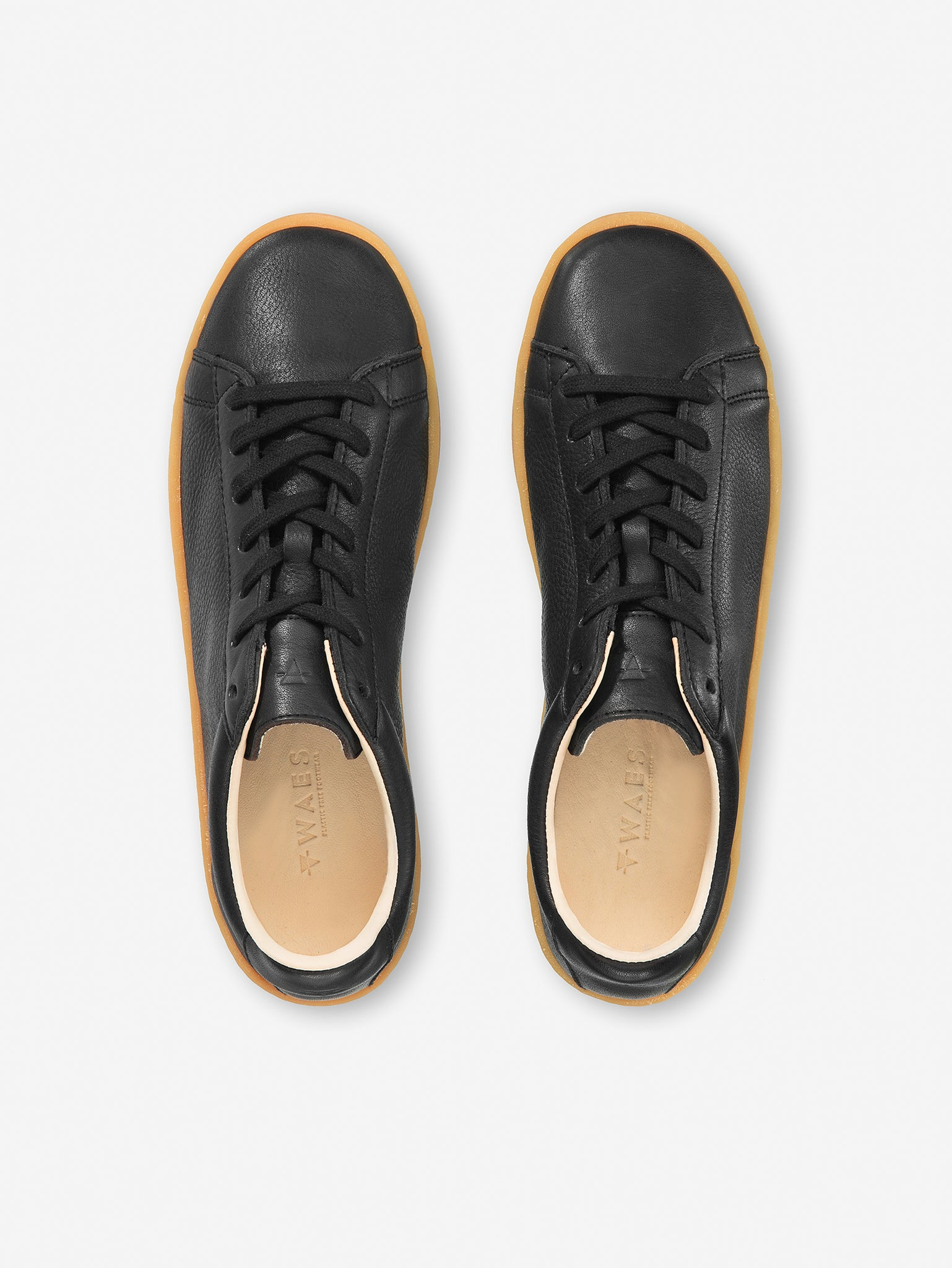 1970 Black Organic Leather Sustainable Trainers top