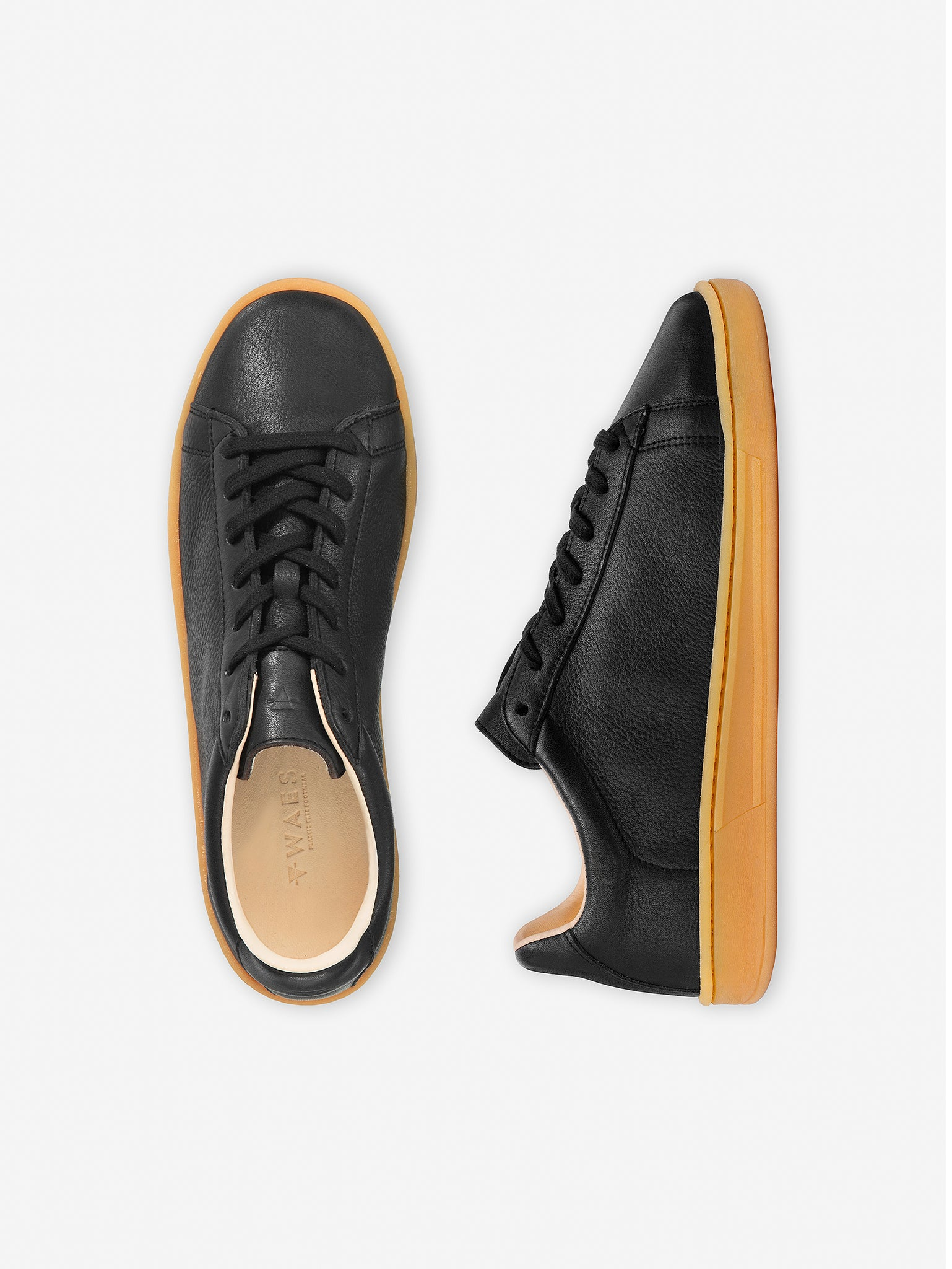1970 - Black/Lite Leather Trainer