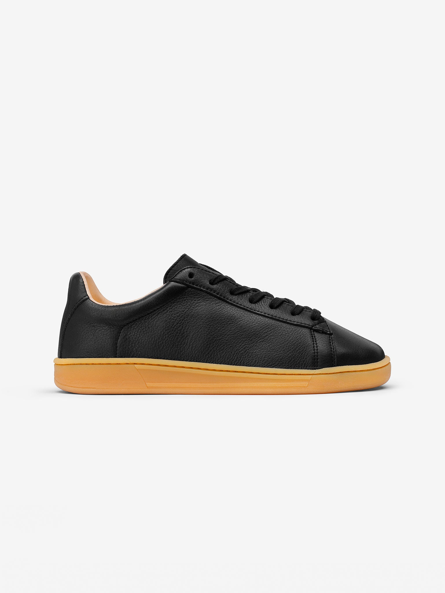 1970 Black Organic Leather Sustainable Trainers side