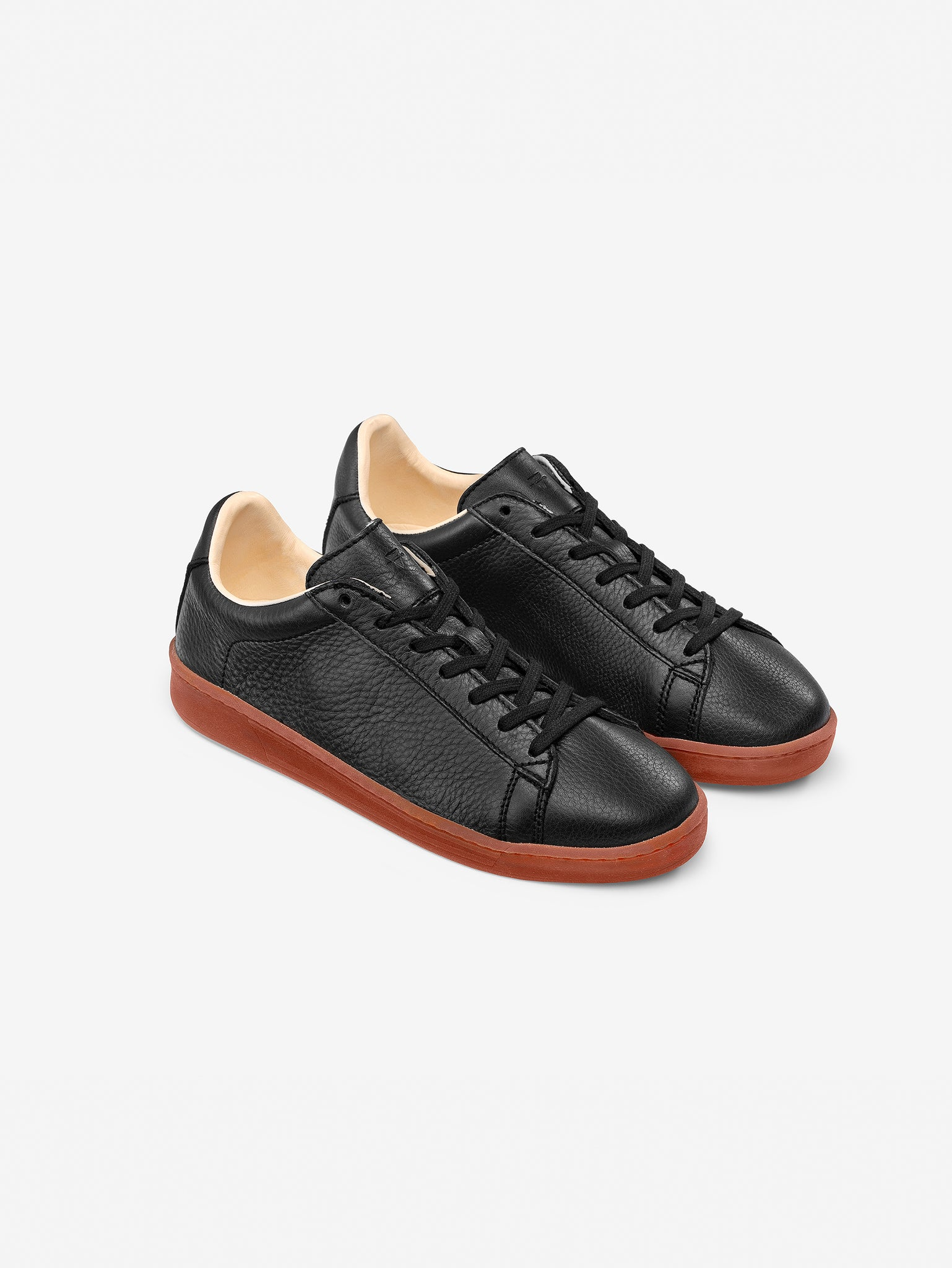 1970 - Black/Red Leather Trainer