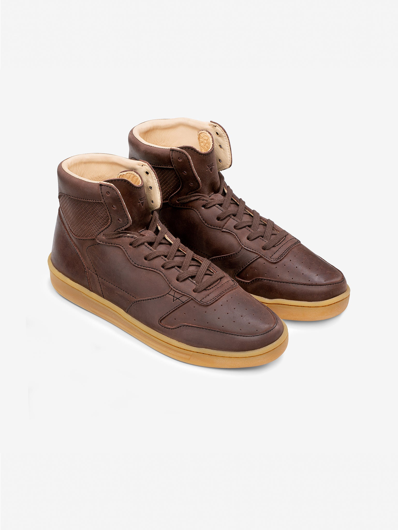 1978  - Chestnut Brown Leather High Top