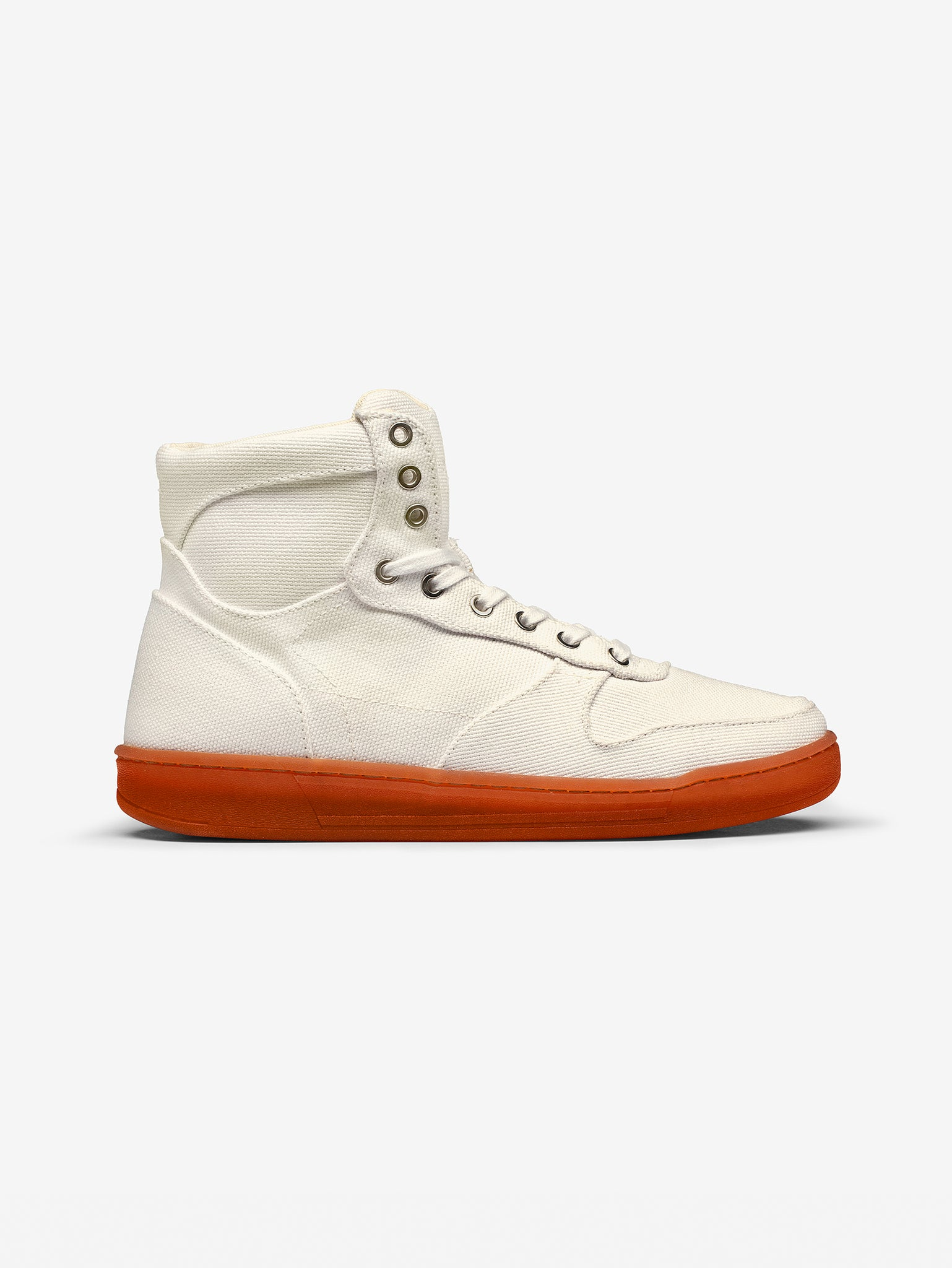 White Vegan High Top Organic Canvas side
