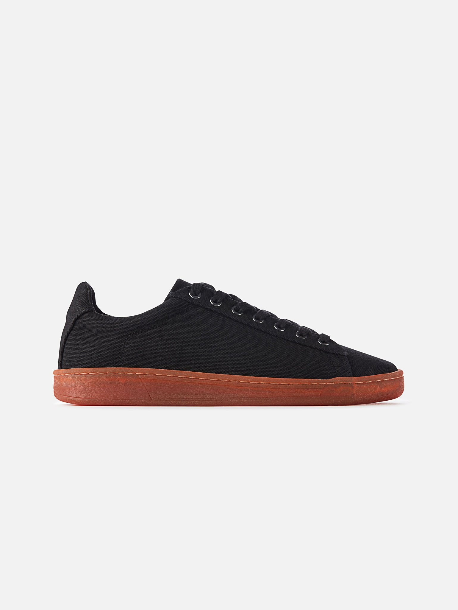 Hope - Vegan Black/Red Canvas Shoe