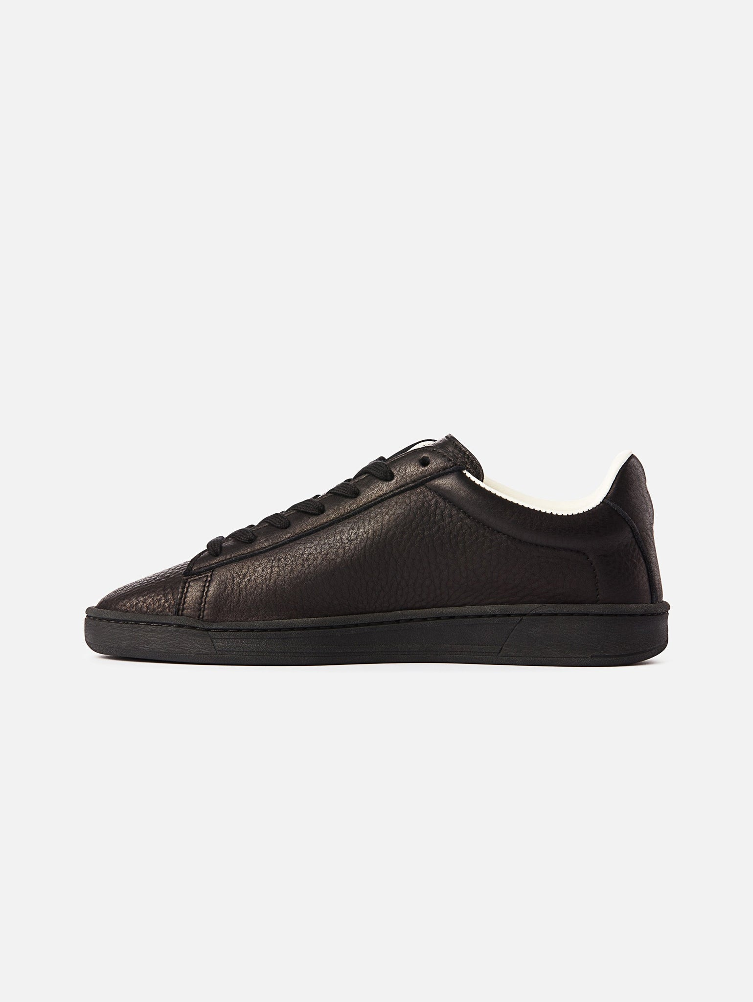 The 1970 - All Black Leather Trainer