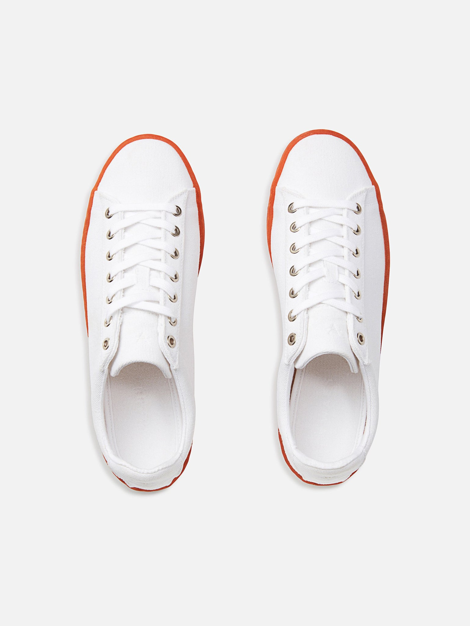 Hope - Vegan White/Red Canvas Shoe