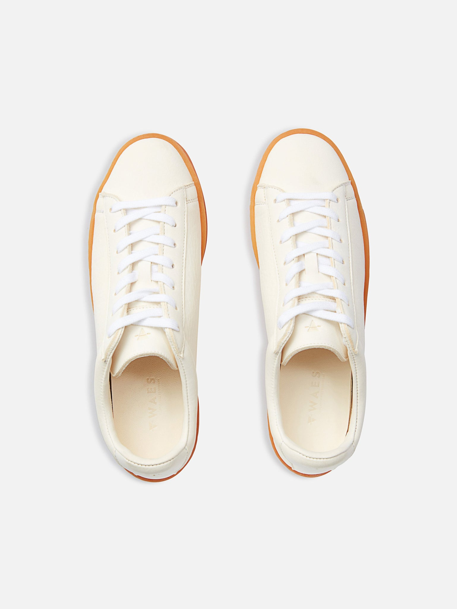 The 1970 - White/Lite Leather Trainer