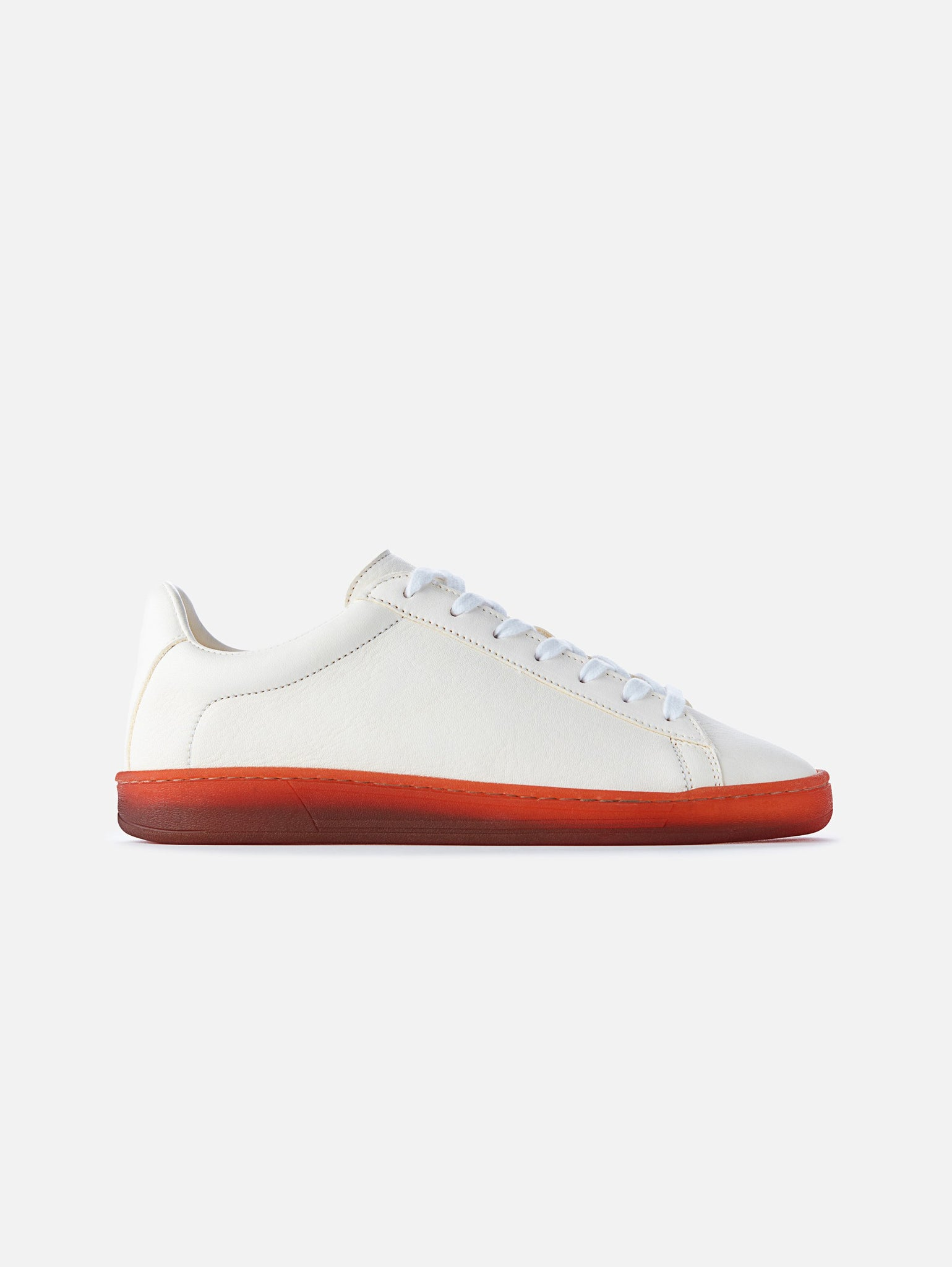 The 1970 - White/Red Leather Trainer