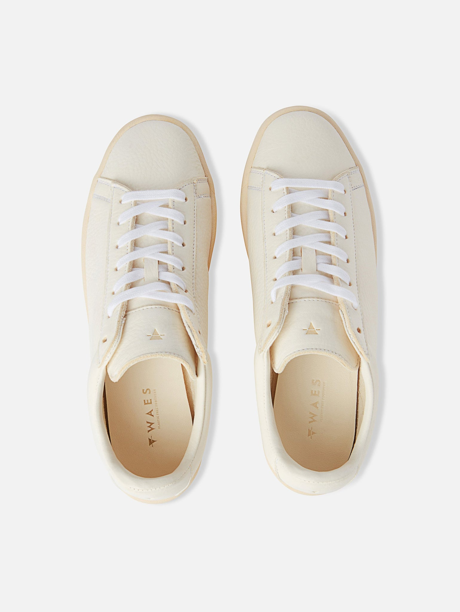 The 1970 - All White Leather Trainer