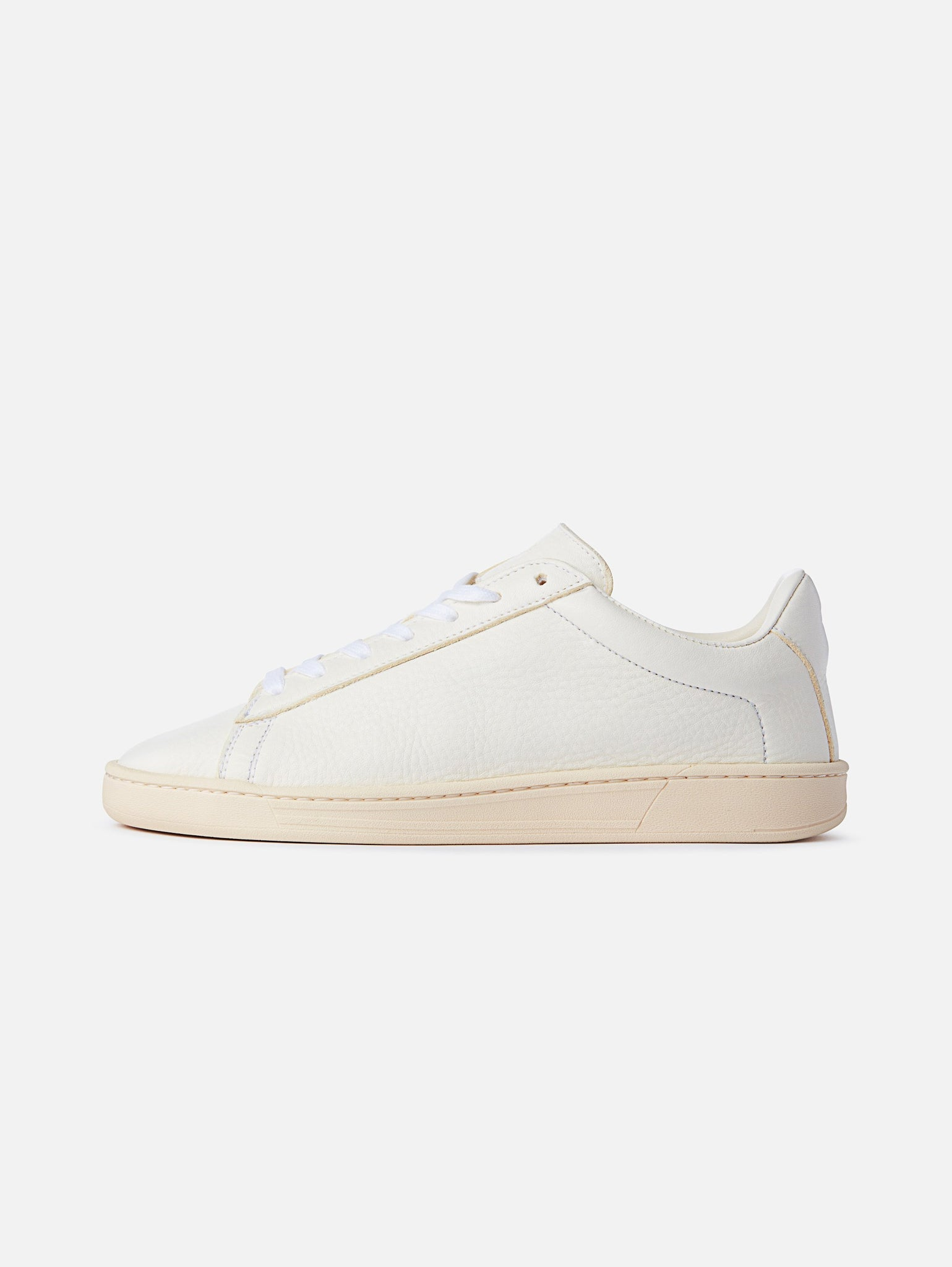 The 1970 - All White Leather Trainerproduct_vendor#product_type