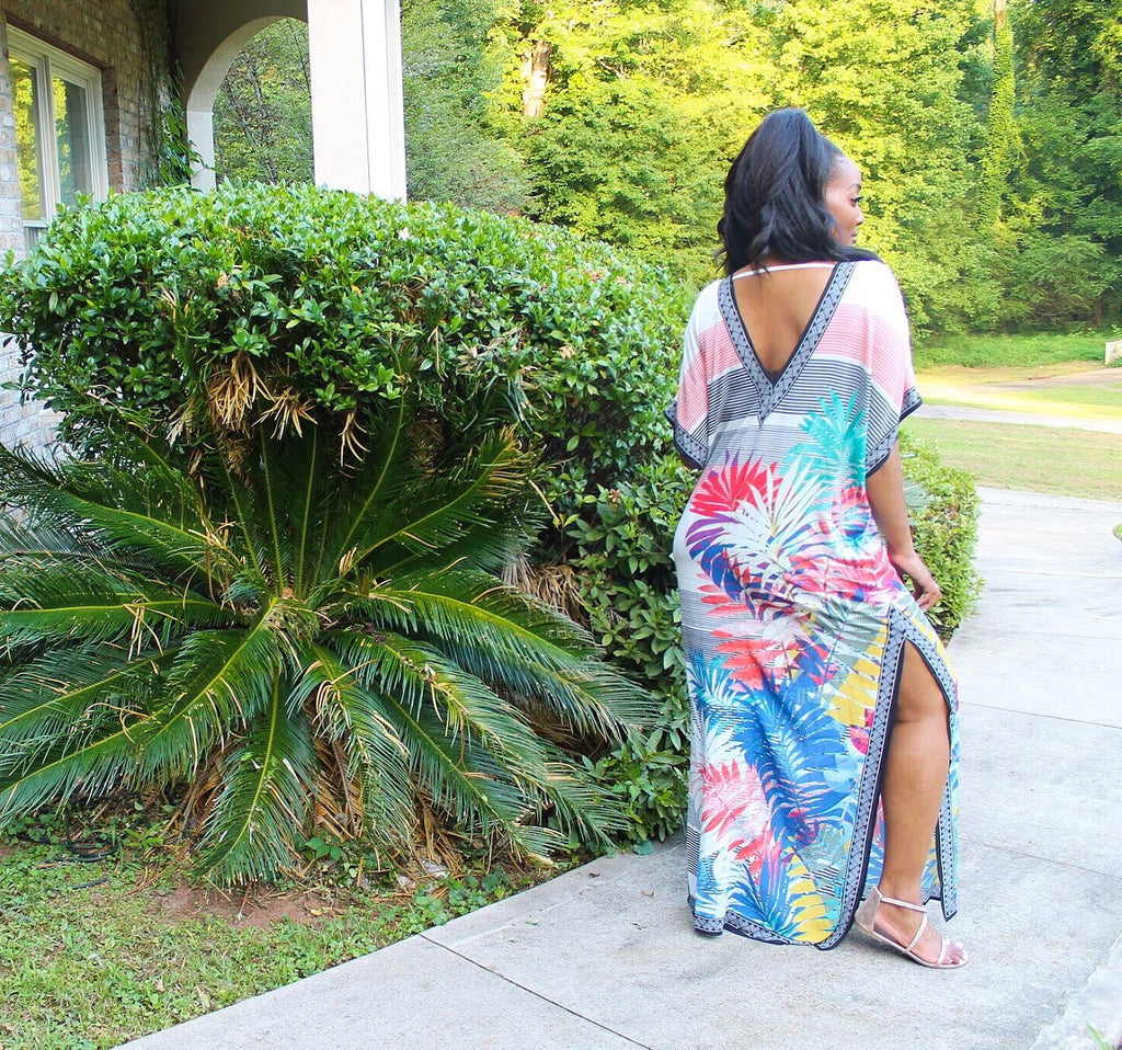TROPICAL VIBEZ MAXI DRESS