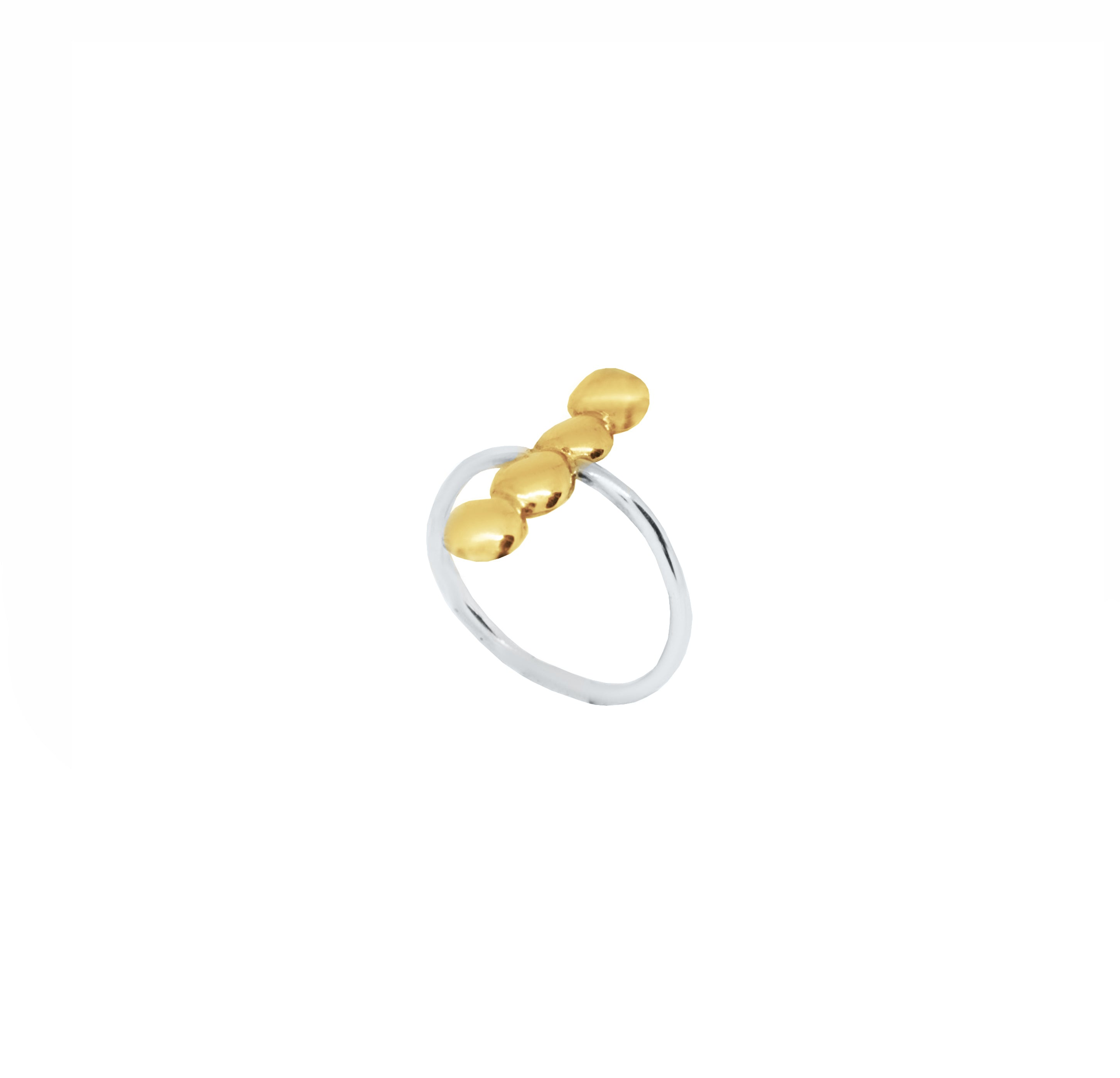Pebbles Line Ring
