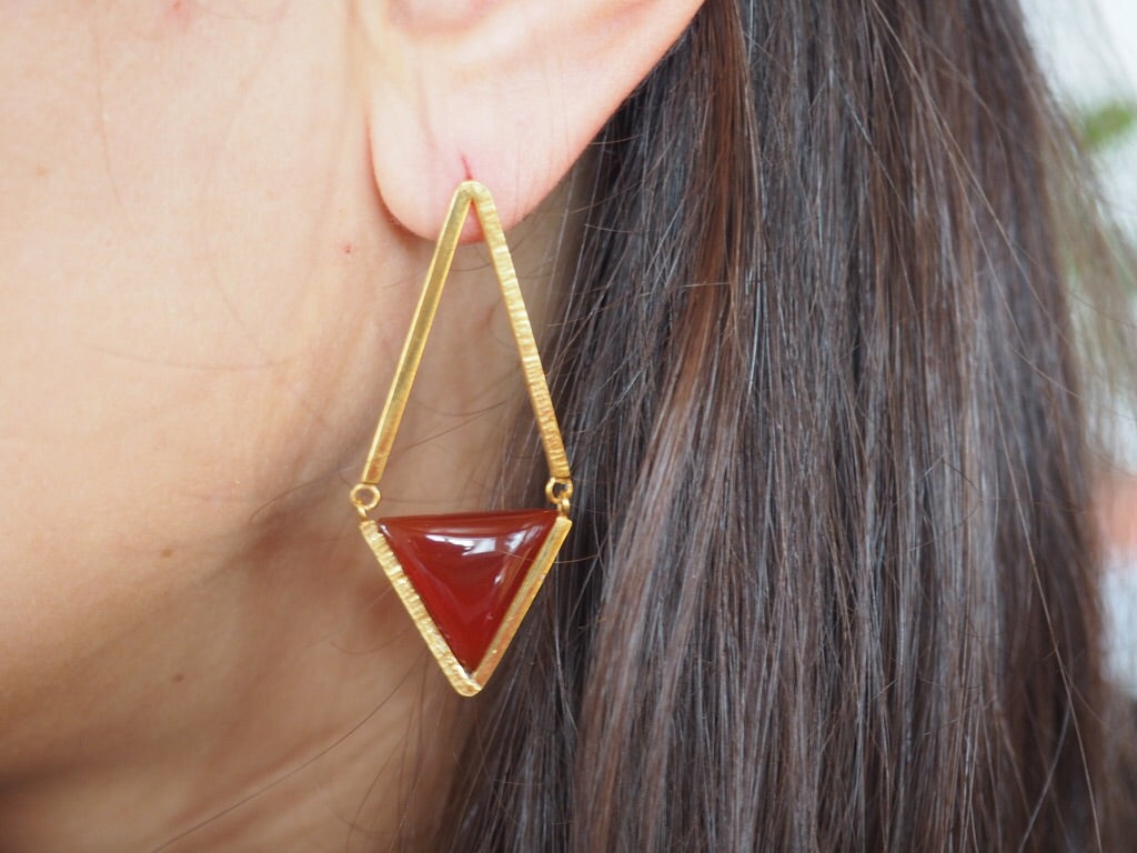 Triangle Pendant Earrings
