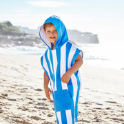 kids beach ponchos striped blue