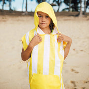 fun yellow wearable towels for kids