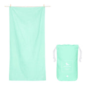 gym towel and yoga towels green quick dry towel with pouch