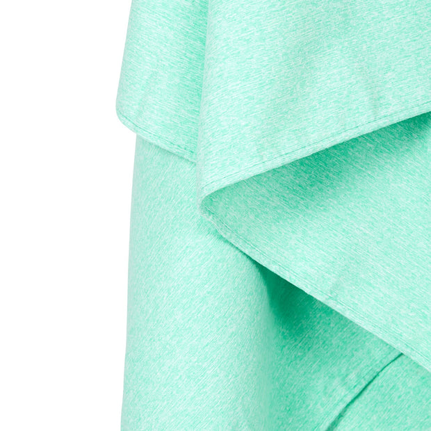 gym towel and yoga towels green close up soft microfiber fabric