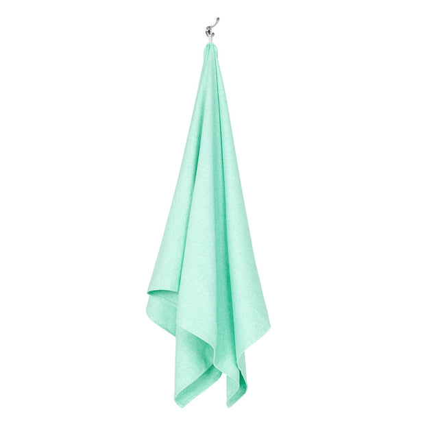 gym towel and yoga towels green microfiber towel hanging