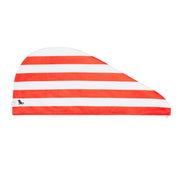 hair towel turban twist hair wrap red compact towel folded