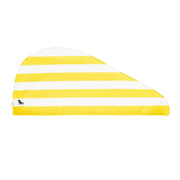hair towel turban twist hair wrap yellow compact towel folded
