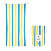 microfiber beach towels blueyellow quick dry towel with pouch