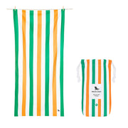microfiber beach towels greenorange quick dry towel with pouch