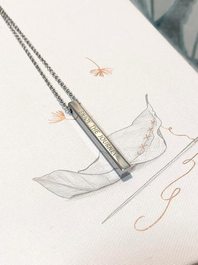 Enjoy the Journey - Inspirational Necklace