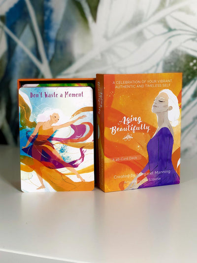 """Aging Beautifully"" Affirmation Cards (A 46-Card Deck)"