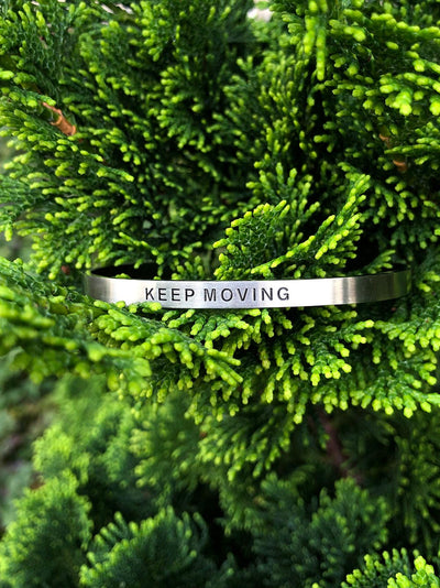 Keep Moving - Affirmation Bracelet