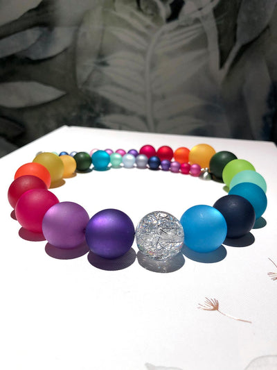 Rainbow Polaris Bead Necklace - Celebrate Your Unique Radiance (as Worn by Margaret Manning)