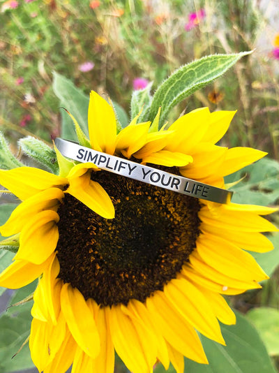 Simplify Your Life - Affirmation Bracelet