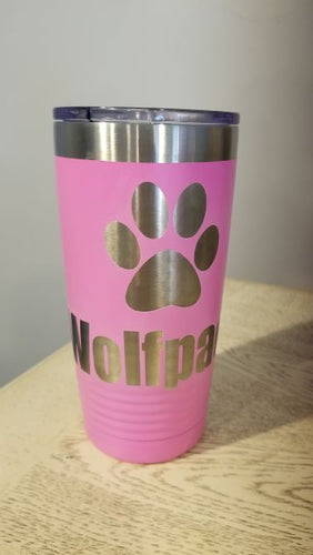 Wolfpack Pink Breast Cancer Ribbon 20 oz Polar Stainless Tumbler