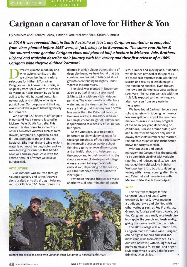Carignan P1 Wine & Viticulture Journal