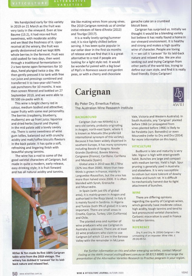 Carignan P2 Wine & Viticulture Journal