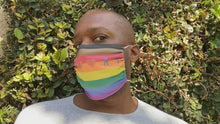 Load and play video in Gallery viewer, PROUD by CTZN JNS facemask (Philly pride rainbow)