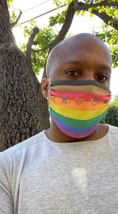 PROUD by CTZN JNS facemask (Philly pride rainbow)