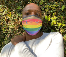 Load image into Gallery viewer, PROUD by CTZN JNS facemask (Philly pride rainbow)