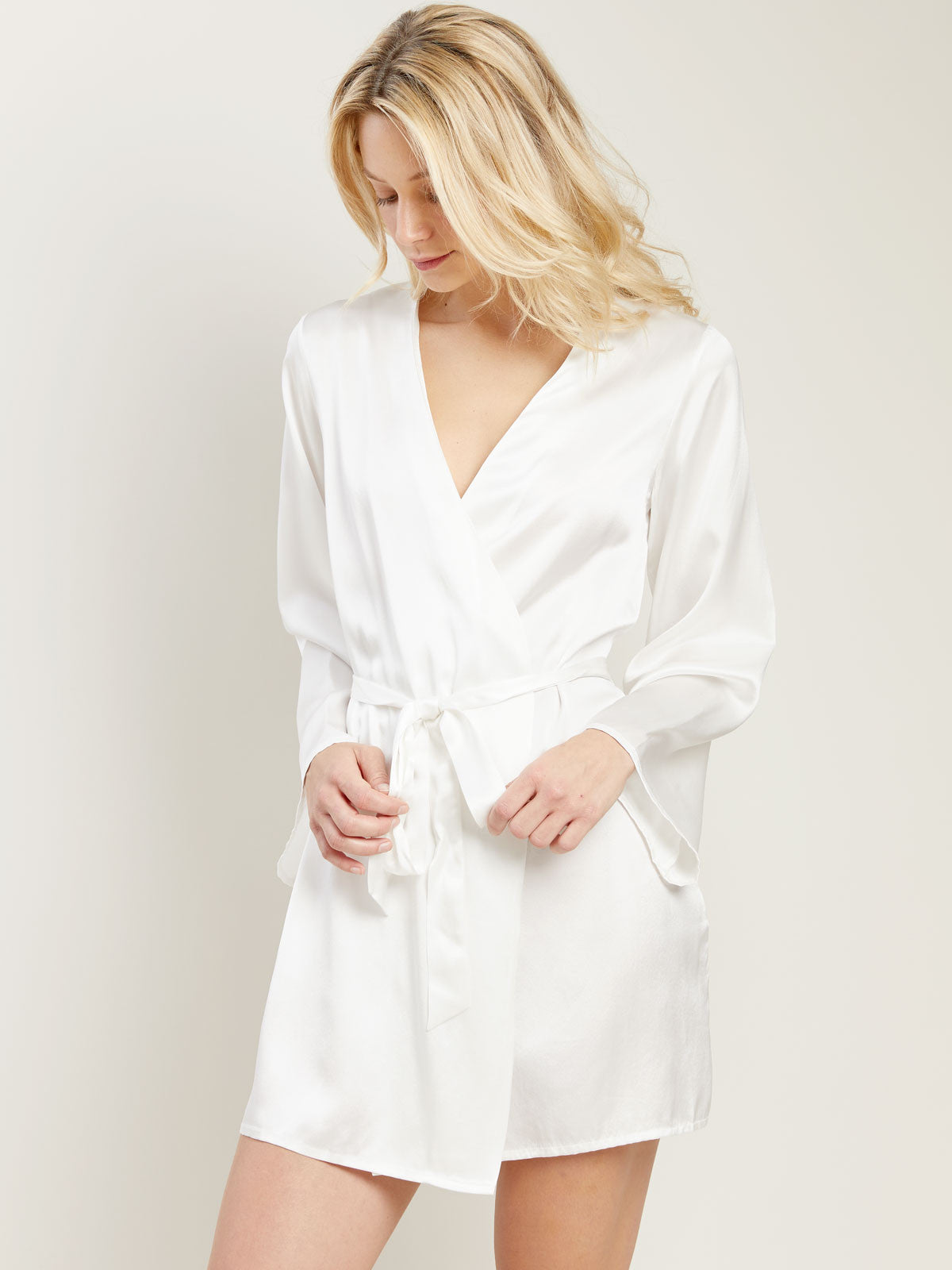 Langley Robe in Chalk