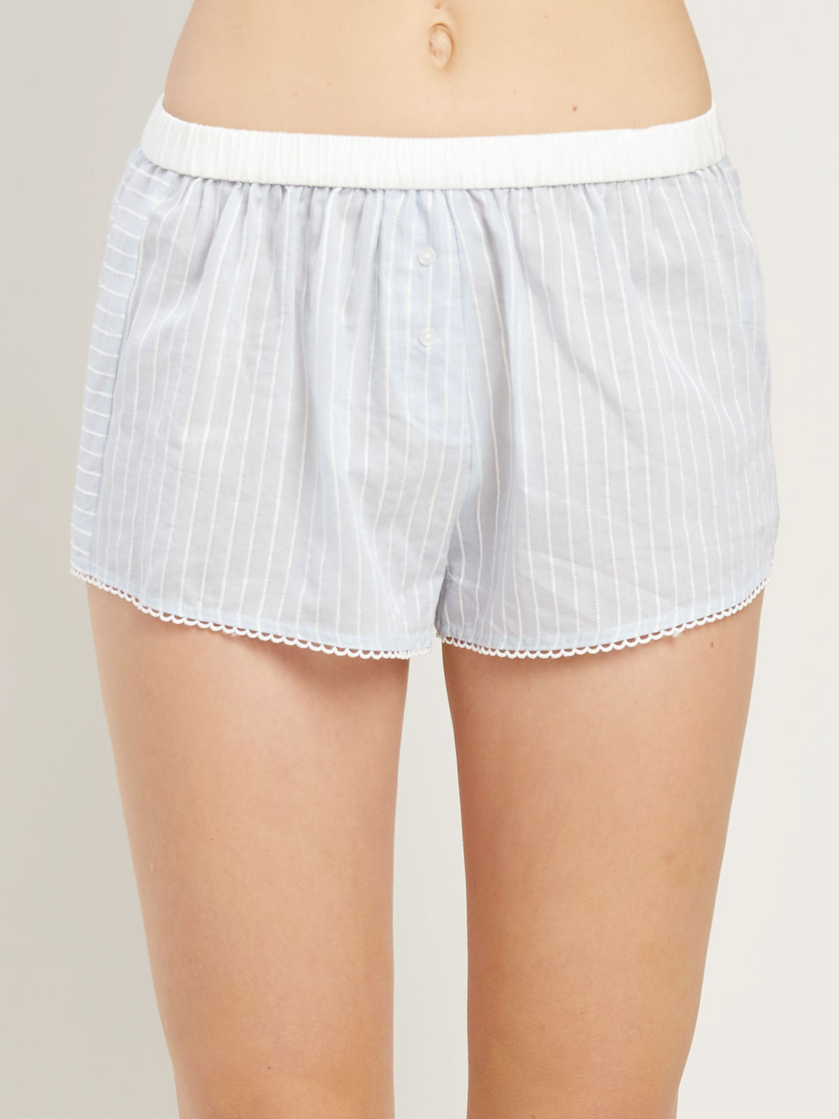 Teddy Short in Powder Stripe