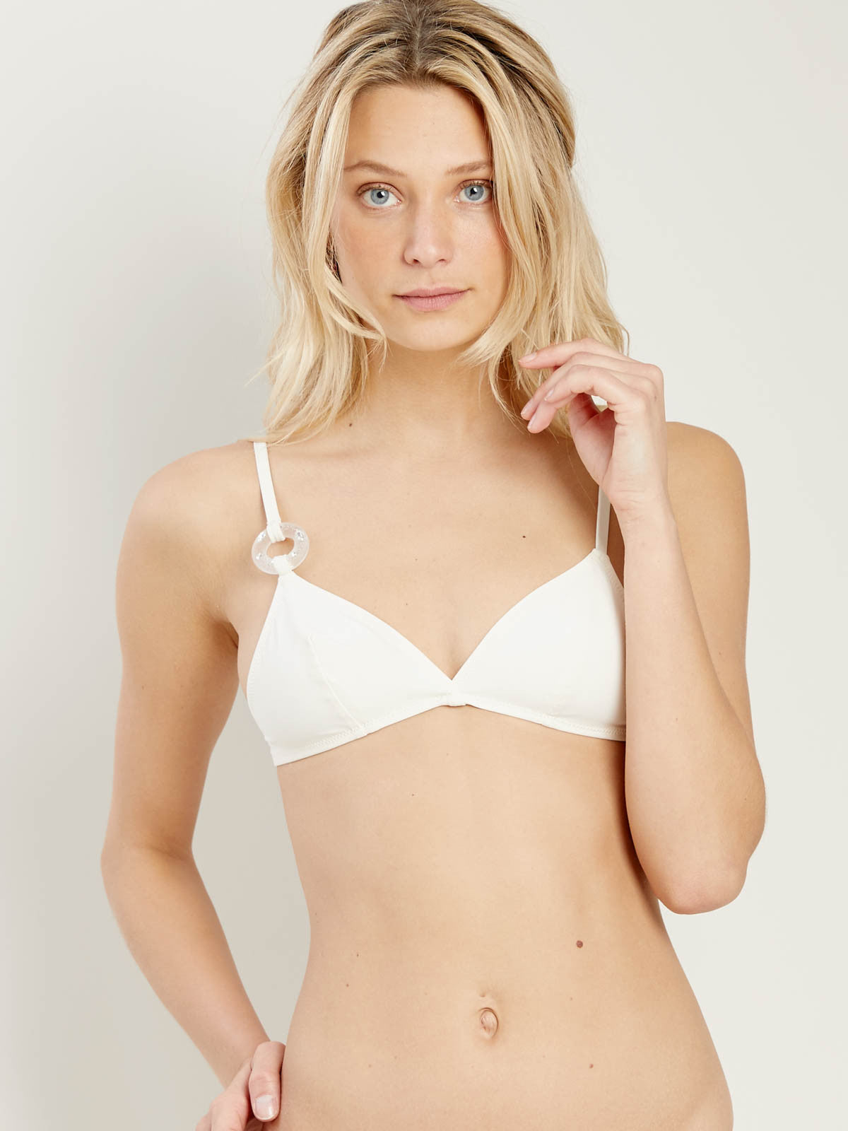 Evie Top in Ivory Lifesaver