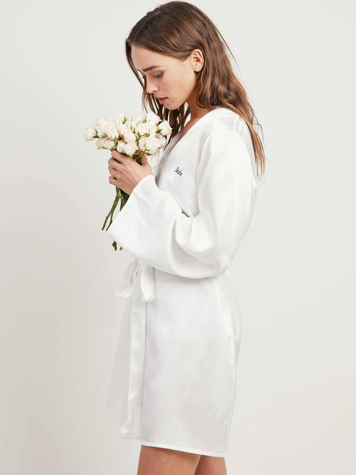 Bride Langley Robe in Chalk By Morgan Lane